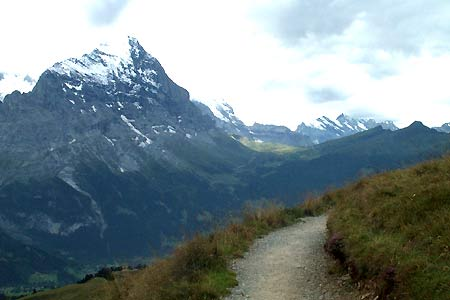 Eiger from Grosse Scheidegg to First footpath
