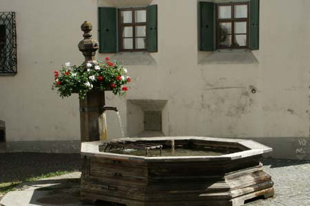 Bever - a water trough within the village