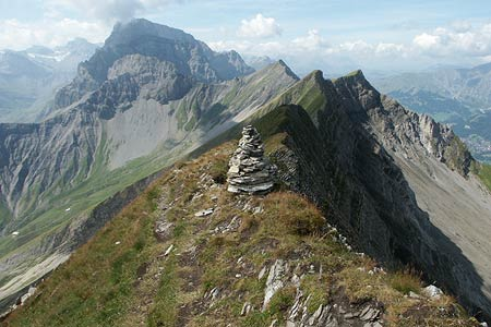 View south from summit of First to Bunderspitz